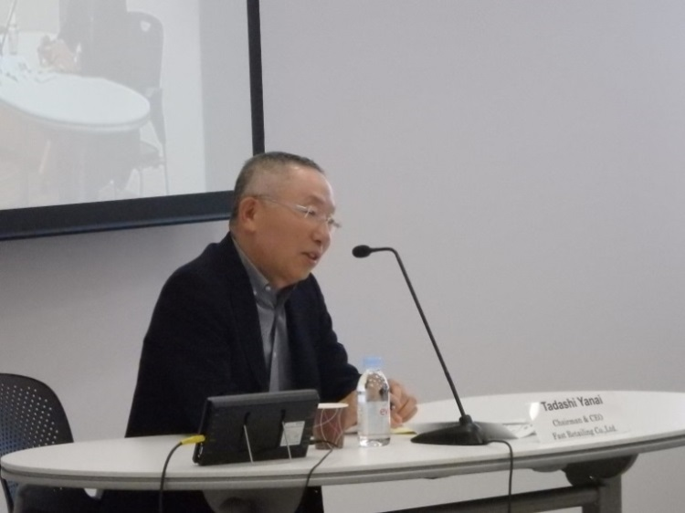 Dialogue with Mr.Tadashi Yanai, Chairman, President & CEO, Fast Retailing Co., Ltd.